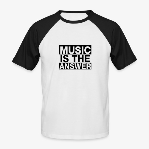 music is the answer - Camiseta béisbol manga corta hombre