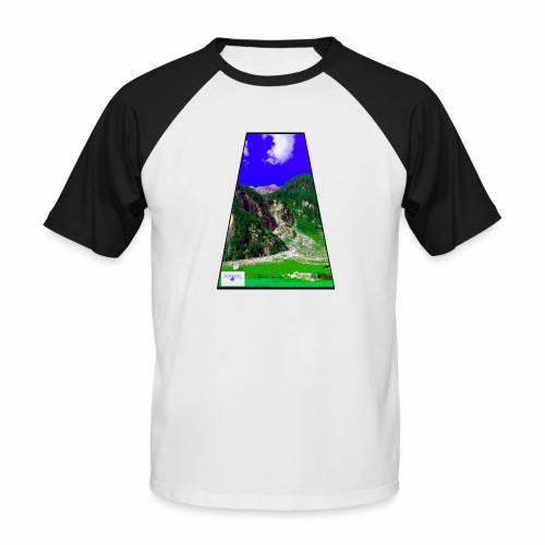 BergAUsBlick ValC - Männer Baseball-T-Shirt