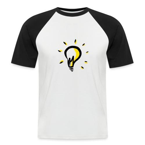 Geistesblitz - Männer Baseball-T-Shirt