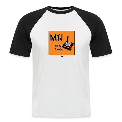 Mtj Logo - Kortermet baseball skjorte for menn