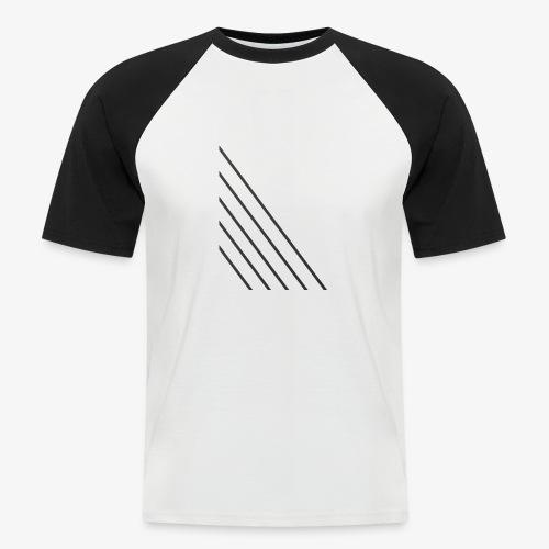 STRIPED - Kortærmet herre-baseballshirt