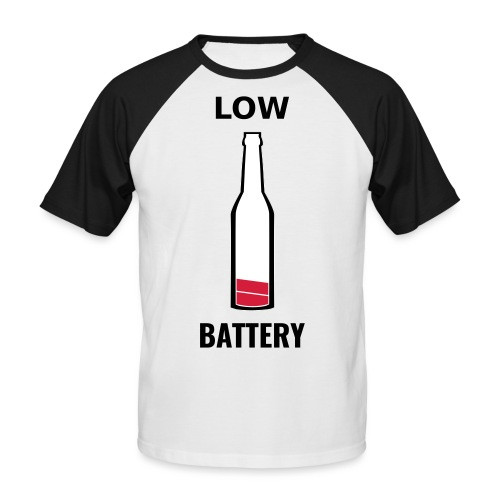 Beer Low Battery - T-shirt baseball manches courtes Homme