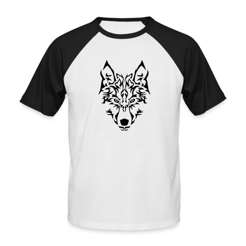 Tribal Wolf - T-shirt baseball manches courtes Homme