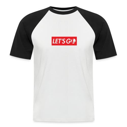 letsgo - Maglia da baseball a manica corta da uomo