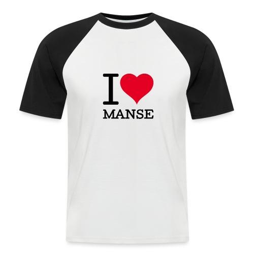 I love Manse - Miesten lyhythihainen baseballpaita