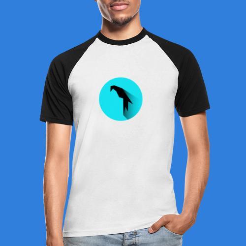 Parrot Logo + Prompt - Men's Baseball T-Shirt
