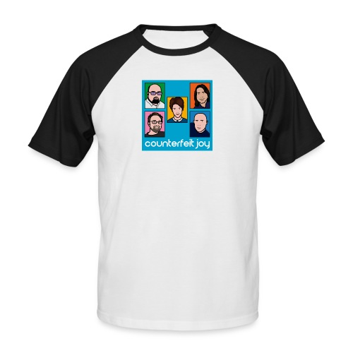 Counterfeit Joy logo2 - Men's Baseball T-Shirt