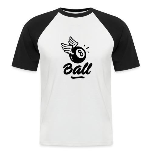 8ball-noir - T-shirt baseball manches courtes Homme