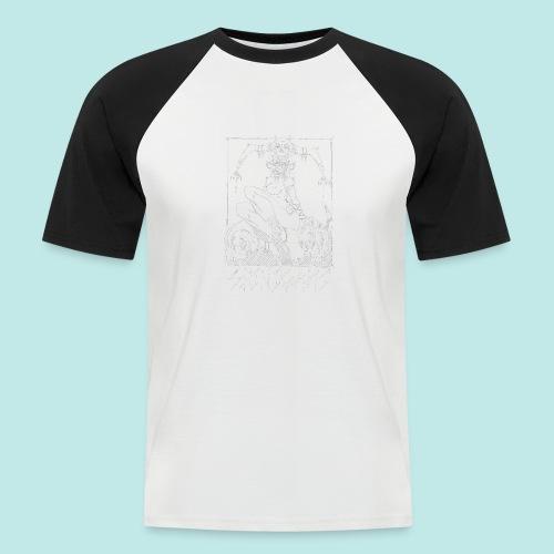 Femme elfe crâne mort dark rock Blanc - T-shirt baseball manches courtes Homme