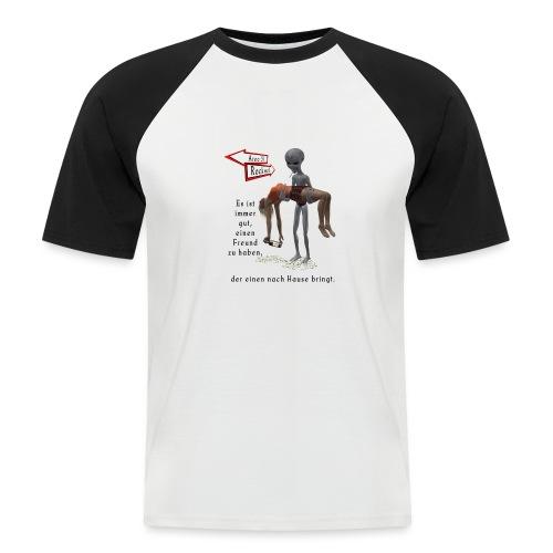 Grey Alien - Männer Baseball-T-Shirt