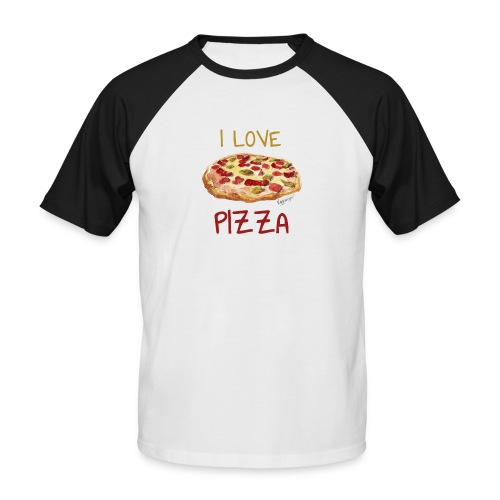I love Pizza - Männer Baseball-T-Shirt