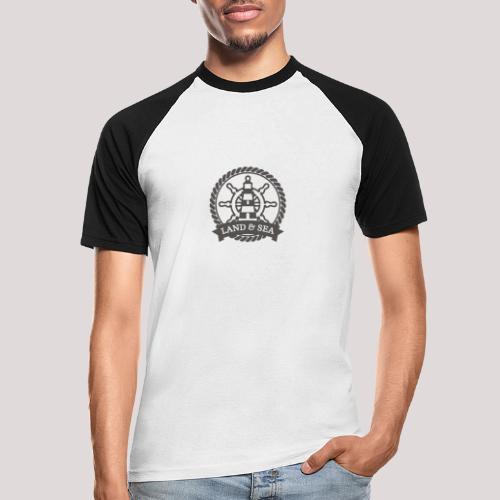 Anker Land Sea - Männer Baseball-T-Shirt