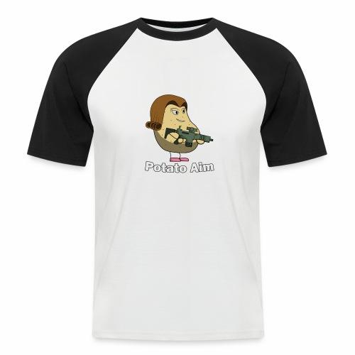 Mrs Potato Aim - Men's Baseball T-Shirt