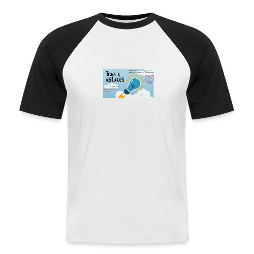astuces mansour - T-shirt baseball manches courtes Homme