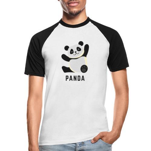Schattige Panda - Mannen baseballshirt korte mouw