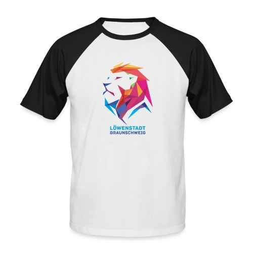 Löwenstadt Design 7 - Männer Baseball-T-Shirt