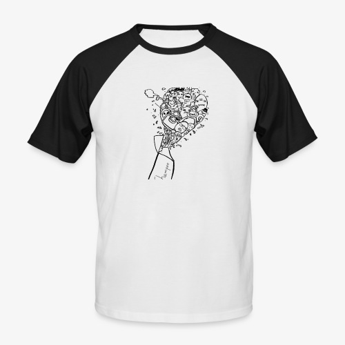 shampoo doodles - Men's Baseball T-Shirt