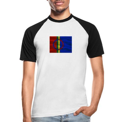 Sapmi flag - Kortermet baseball skjorte for menn