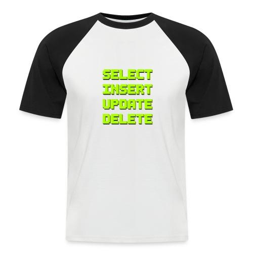 SQL pixelart black - Männer Baseball-T-Shirt