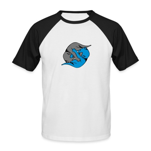 Yin and Yang Kitties - Men's Baseball T-Shirt