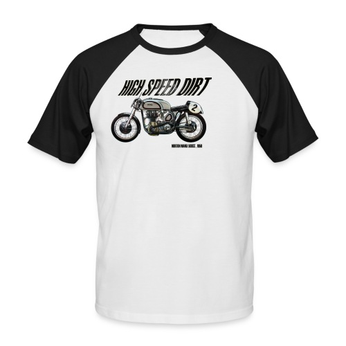 norton manx 500cc buena - Camiseta béisbol manga corta hombre