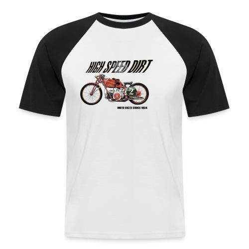 moto guzzi 500cc copia - Camiseta béisbol manga corta hombre