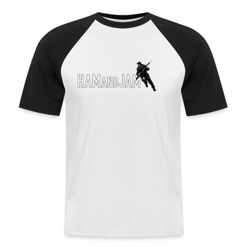 haj logo pixel - Men's Baseball T-Shirt