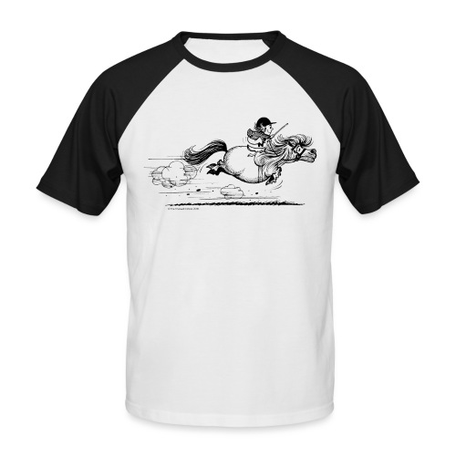 PonySprint Thelwell Cartoon - Men's Baseball T-Shirt