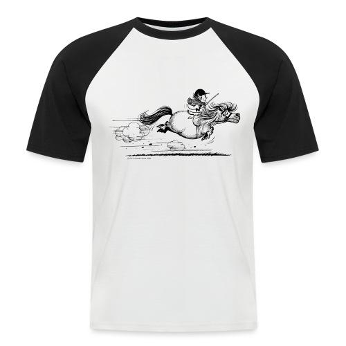 Thelwell Cartoon Pony Sprint - Männer Baseball-T-Shirt