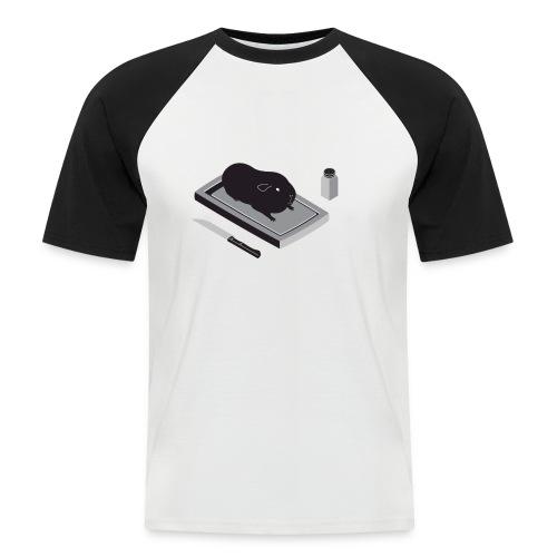 cavia1 groot grijs - Mannen baseballshirt korte mouw