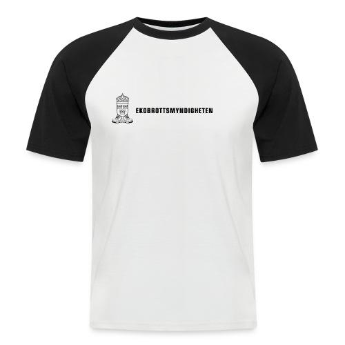 ebmlogoplustexthalvstor - Men's Baseball T-Shirt