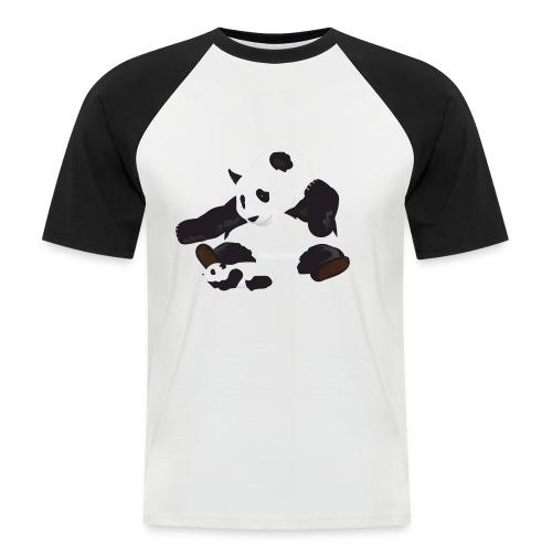 Panda and cub - Men's Baseball T-Shirt