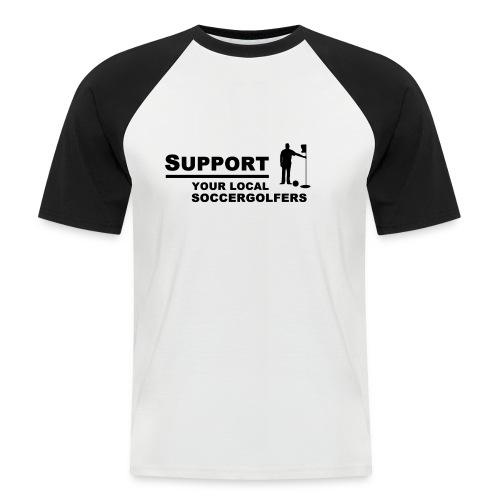 supportsoccergolfers - Männer Baseball-T-Shirt