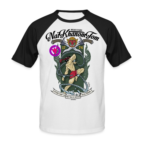 THAI FIGHTER - T-shirt baseball manches courtes Homme