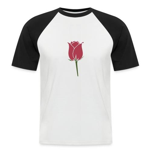 Rose Design - Männer Baseball-T-Shirt