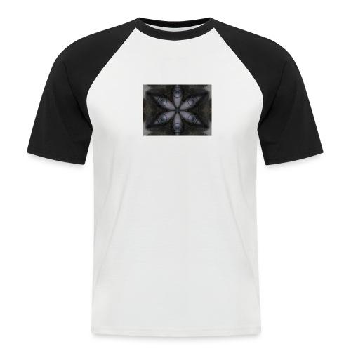 flor hipster - Camiseta béisbol manga corta hombre