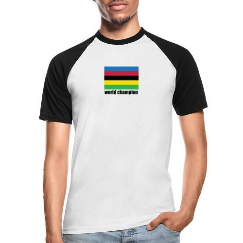 world champion cycling stripes - Mannen baseballshirt korte mouw