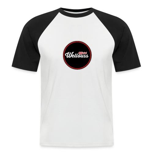 Wellouss Fan T-shirt | Rood - Mannen baseballshirt korte mouw