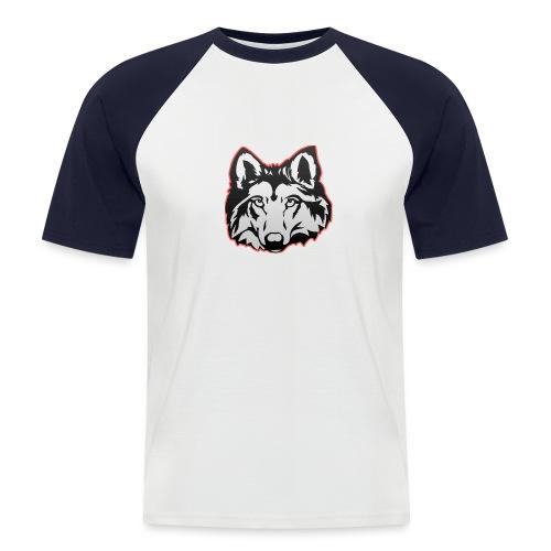Wolfie (Red) - Men's Baseball T-Shirt