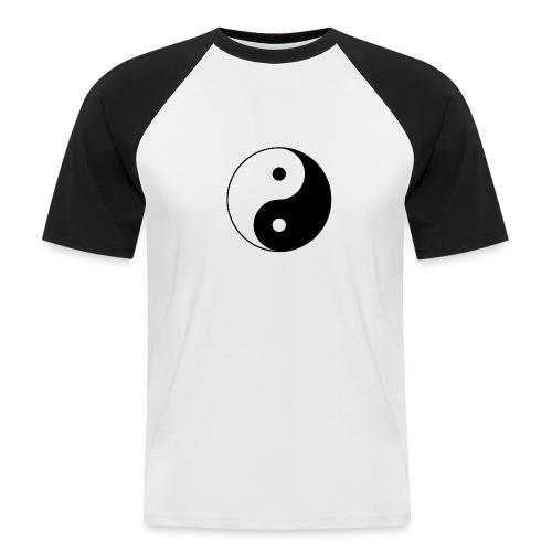 800px Yin yang svg 1 - Männer Baseball-T-Shirt