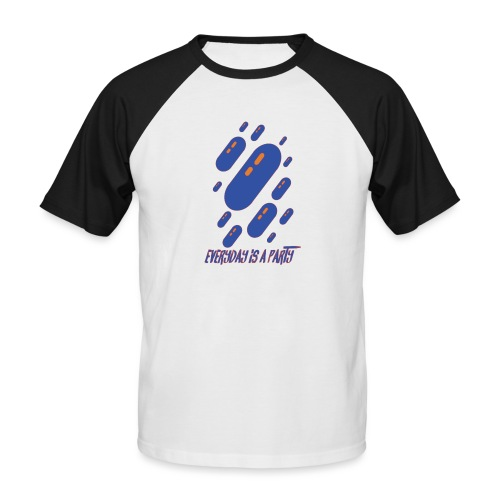 party day - T-shirt baseball manches courtes Homme