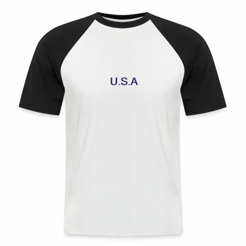 USA LOGO - T-shirt baseball manches courtes Homme