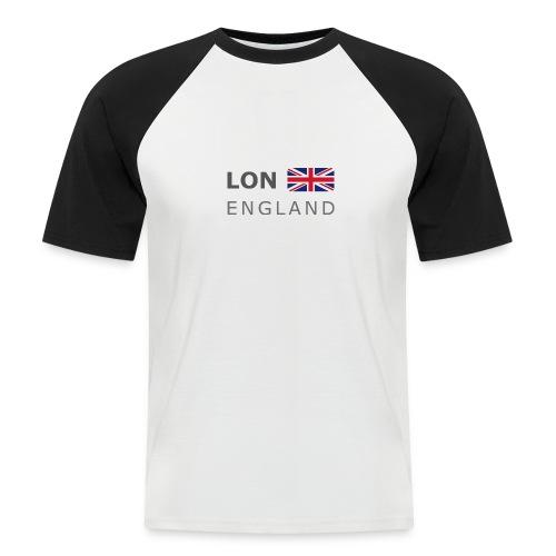 LON ENGLAND BF dark-lettered 400 dpi - Men's Baseball T-Shirt