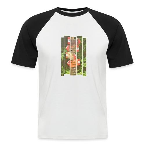 De verwarde hike - Mannen baseballshirt korte mouw