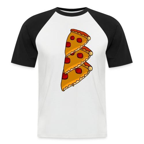 pizza - Kortærmet herre-baseballshirt