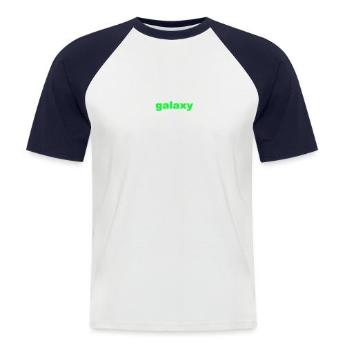 galaxy - Mannen baseballshirt korte mouw