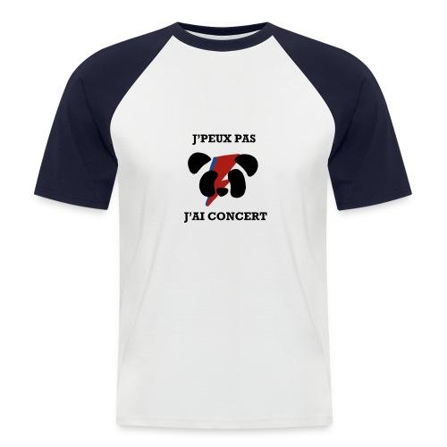 J'peux pas j'ai concert - T-shirt baseball manches courtes Homme