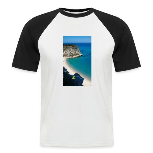 Tropea isola - Maglia da baseball a manica corta da uomo