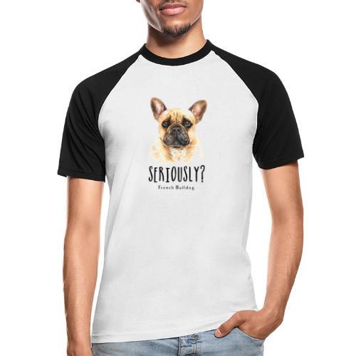 Grappige Franse Bulldog - Mannen baseballshirt korte mouw