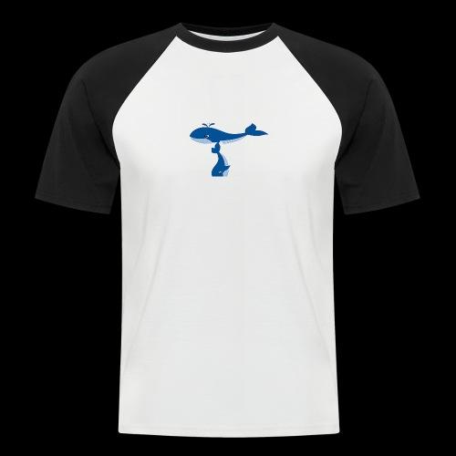 whale t - Men's Baseball T-Shirt